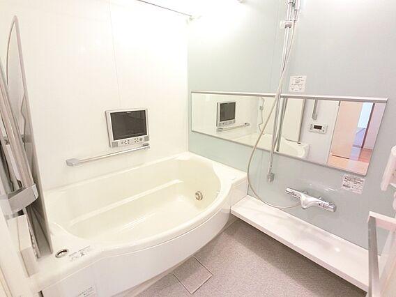 広いアーチ型浴...