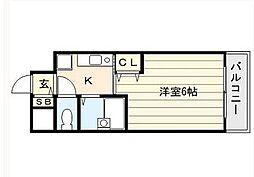 ラナップスクエア北梅田シティ[4階]の間取り