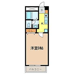 プレジオ喜多町[2階]の間取り