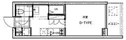 B CITY APARTMENT TACHIKAWA[209号室号室]の間取り