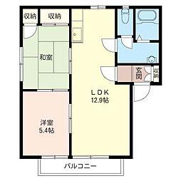 ナカヤ ハウス B[2階]の間取り