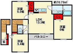 アルアミスタ B棟[2階]の間取り