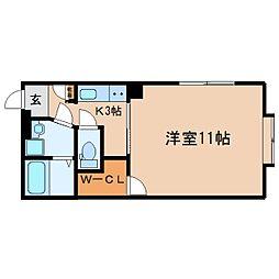 静岡県静岡市駿河区中田1丁目の賃貸マンションの間取り