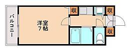 マリス南片江[4階]の間取り
