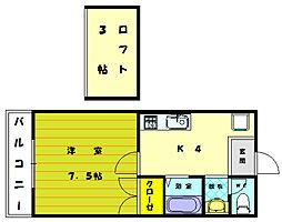 イデアハイツ3[1階]の間取り