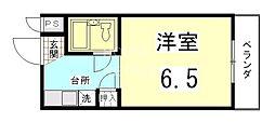 ニケンカン[402号室号室]の間取り