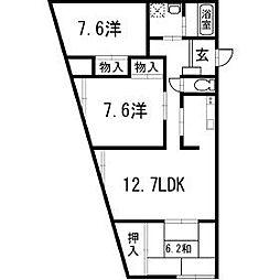 ビラ・プリンチペ 101号[1階]の間取り