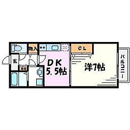 メゾン高松V[1階]の間取り