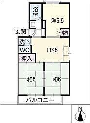 堀尾エルコートA[2階]の間取り