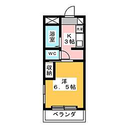 KATSUNO II[4階]の間取り