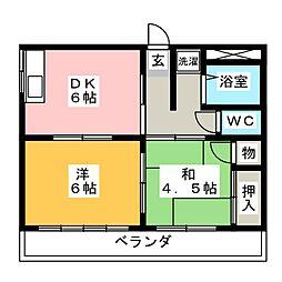 メゾン浅野[2階]の間取り