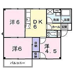 新潟県新潟市中央区女池3丁目の賃貸アパートの間取り