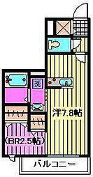 エスポワール5[1階]の間取り