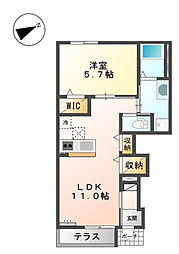 仮)魚住町清水新築アパート[103号室]の間取り