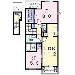 トロイガーデン1・2[A201 号室号室]の間取り