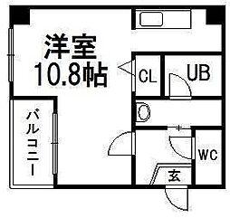 北海道札幌市豊平区美園四条6丁目の賃貸マンションの間取り