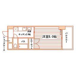 松井ビル[503号室]の間取り