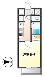 プレサンス名古屋STATIONビーフレックス[12階]の間取り