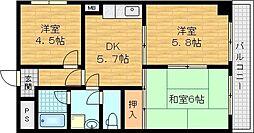 森岡ビル 3階3DKの間取り