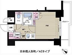 トーシンフェニックス日本橋人形町[601号室]の間取り