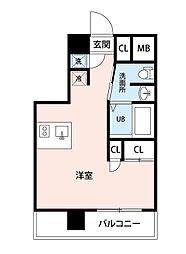 西武池袋線 所沢駅 徒歩3分の賃貸マンション 3階ワンルームの間取り
