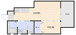 広島電鉄宮島線 広電廿日市駅 徒歩7分の賃貸アパート 1階1LDKの間取り