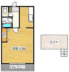 ベルトピア太宰府[2階]の間取り