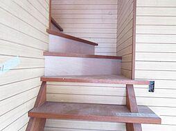 現在リフォーム中。7/12撮影。階段です。踏面部分はオイルステインで仕上げます。