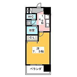 アレーズカシェート[7階]の間取り