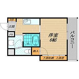 シャトレ高殿[4階]の間取り