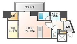 アクアステージ美野島[12階]の間取り