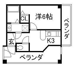 リーフジャルダンレジデンスタワー[7階]の間取り