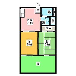 エルフレンテ見付A棟[1階]の間取り