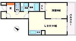 日商岩井第2緑地公園マンション[2階]の間取り