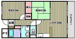 クレアヤマモト[2階]の間取り
