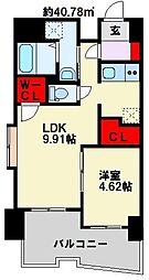 ブルースクエアー響III[4階]の間取り