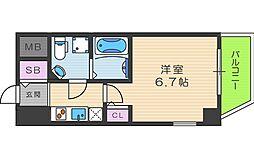 SERENiTE本町reflet 8階1Kの間取り