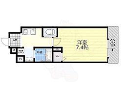 阪急京都本線 南方駅 徒歩9分の賃貸マンション 2階1Kの間取り