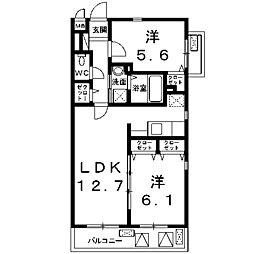 アンジュ新百合ケ丘[4階]の間取り