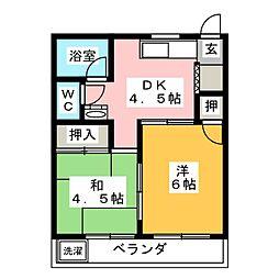 愛知県名古屋市北区生駒町6丁目の賃貸マンションの間取り