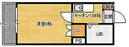 広島県広島市南区東雲2丁目の賃貸マンションの間取り