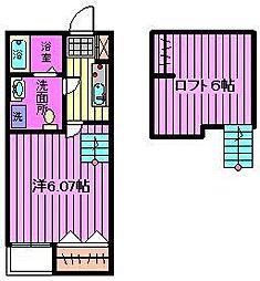 Prime Suite S[2階]の間取り
