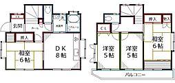 [一戸建] 東京都国分寺市本多3丁目 の賃貸【/】の間取り