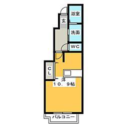 フローラ北館 B[1階]の間取り
