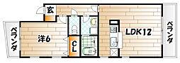 グランオヴェストII[4階]の間取り