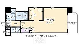 エイペックス京都東山三条[406号室]の間取り