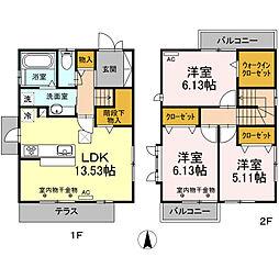 [一戸建] 静岡県浜松市東区原島町 の賃貸【/】の間取り