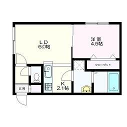 MONI HIBARIGAOKA(モニヒバリガオカ)[1階]の間取り