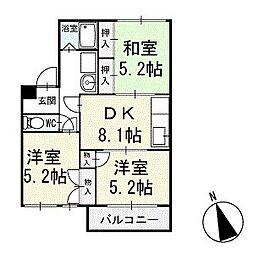 エスポワール里 1階[102号室]の間取り