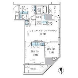 パークアクシス上野松が谷[13階]の間取り